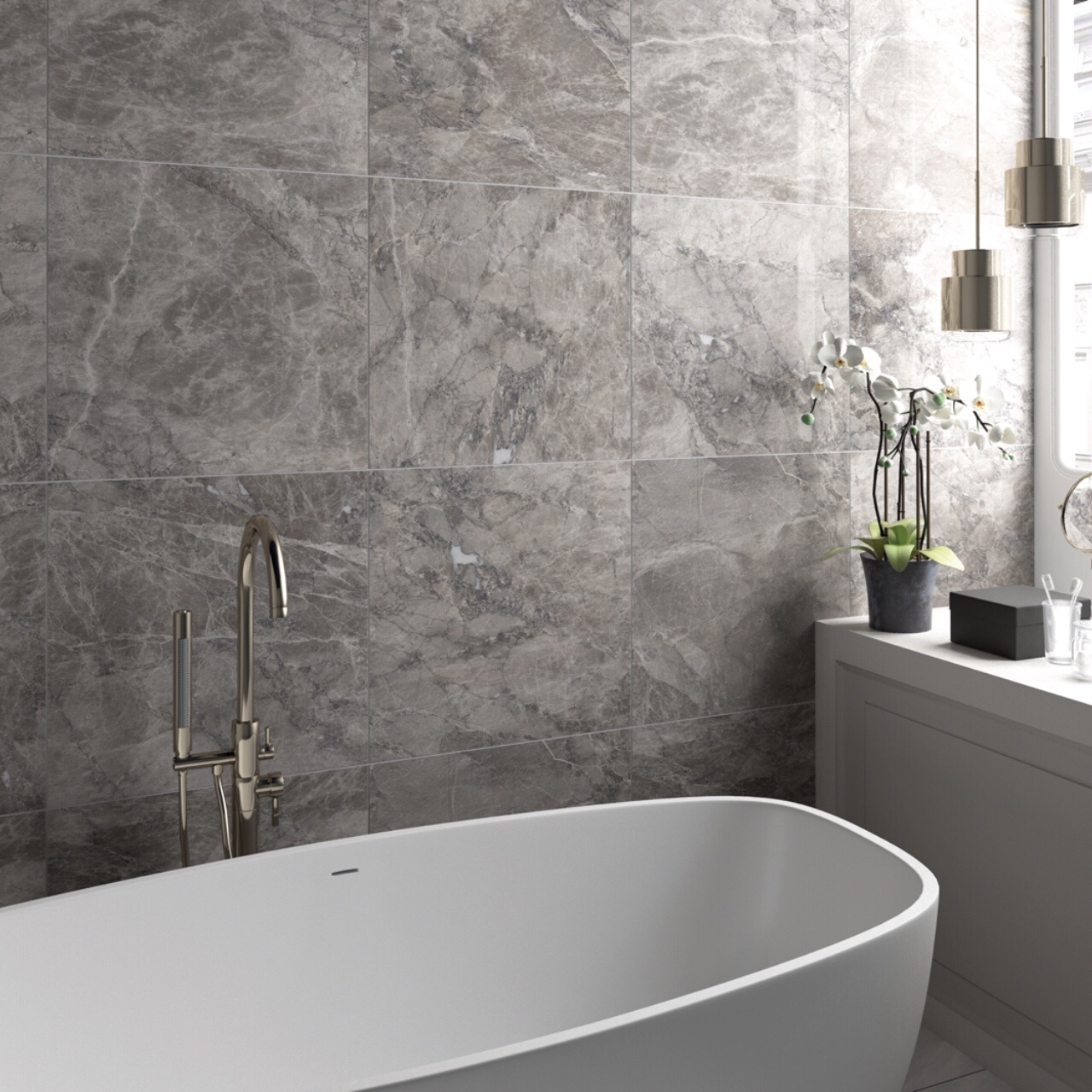 Lux Grigio Polished Tile Factory Outlet